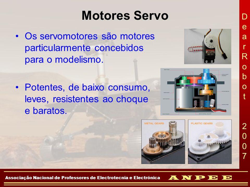 DearRobot 2007DearRobot 2007 Associação Nacional de Professores de Electrotecnia e Electrónica Motores Servo Os servomotores são motores particularmen