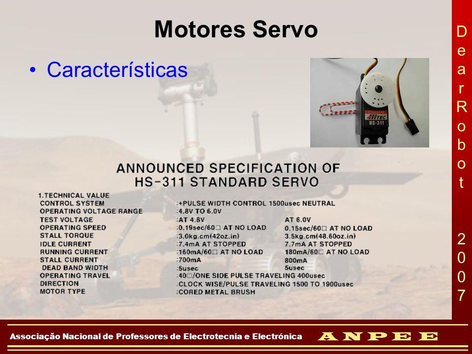 DearRobot 2007DearRobot 2007 Associação Nacional de Professores de Electrotecnia e Electrónica Motores Servo Características