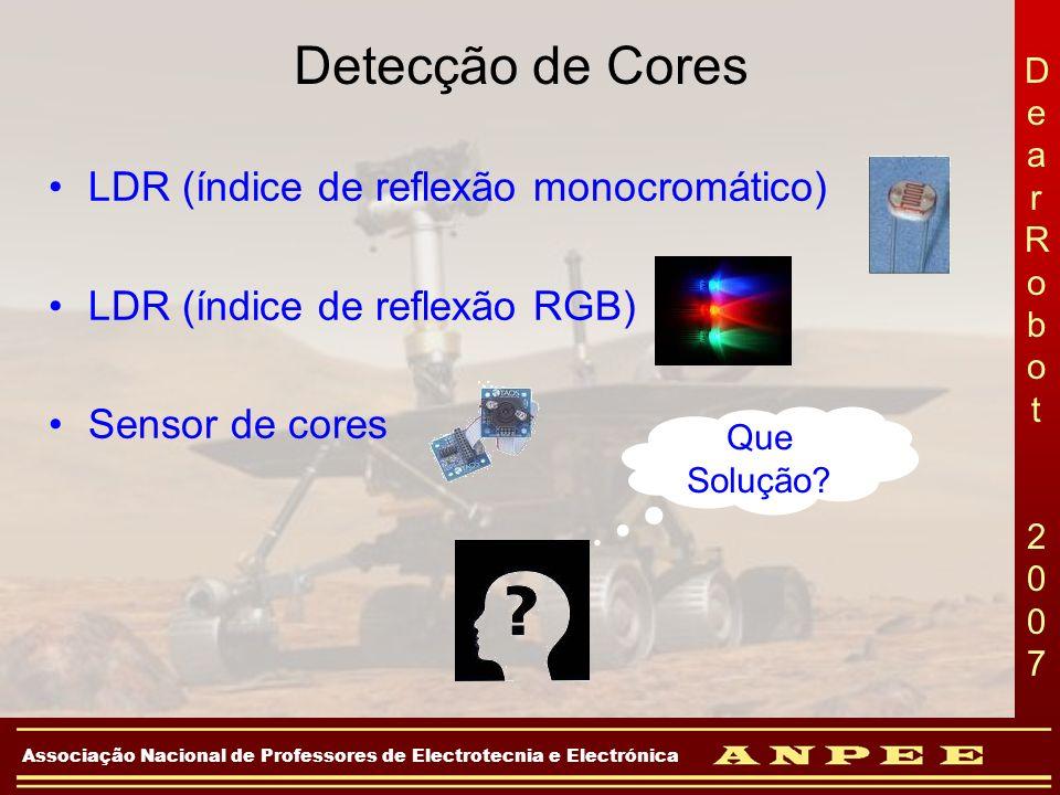 DearRobot 2007DearRobot 2007 Associação Nacional de Professores de Electrotecnia e Electrónica LDR (índice de reflexão monocromático) LDR (índice de r