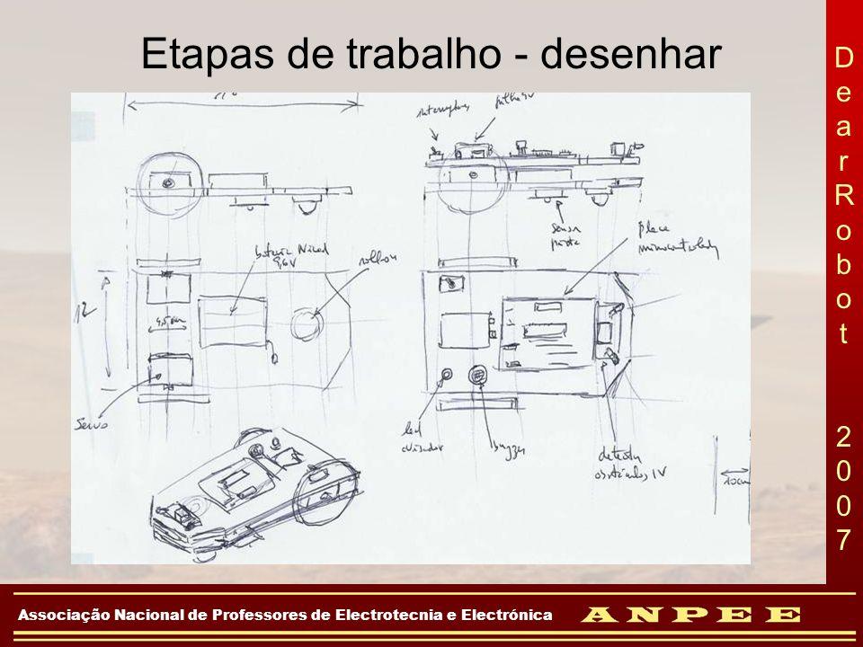 DearRobot 2007DearRobot 2007 Associação Nacional de Professores de Electrotecnia e Electrónica Etapas de trabalho - desenhar