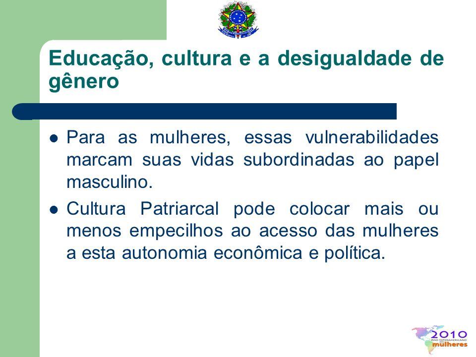 Os avanços na escolaridade feminina no Brasil As mulheres começaram o século XX analfabetas e terminaram o século mais escolarizadas que os homens.