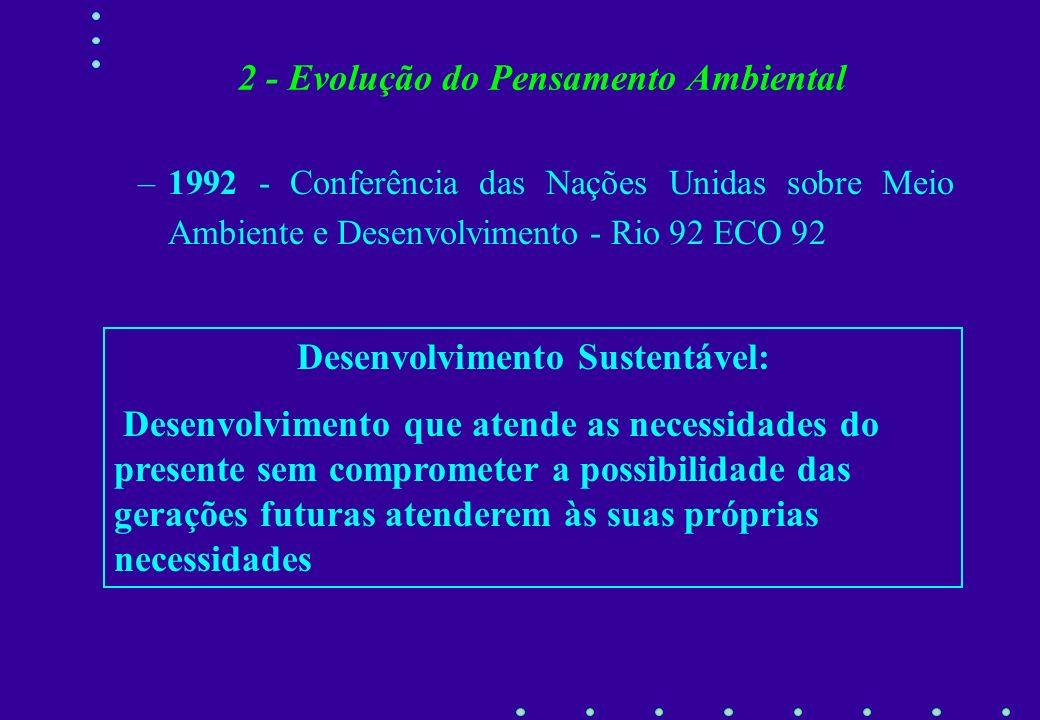–1982 - Conferência de Nairóbi 2a. Conferência de Meio Ambiente e Desenvolvimento da ONU Nova questão em cena : Os Problemas Ambientais Globais. –Muda