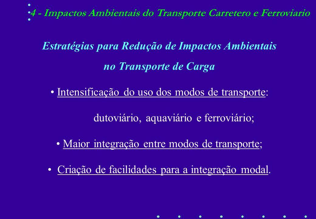 Características RodoviárioFerroviário Intensidade Energética Poluição Atmosférica Poluição Global Versatilidade Segurança Custo UnitárioTransporte Por