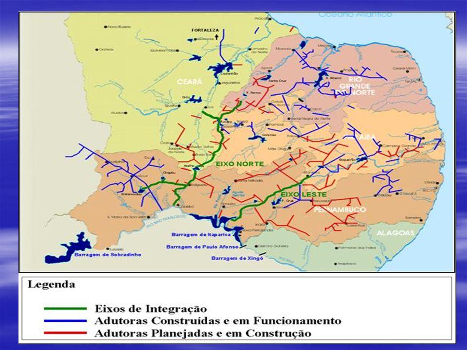 Análise com Projeto Localidades grandes 150 litros/habitante/dia (bruto) 150 litros/habitante/dia (bruto) 112,5 litros/habitante/dia (liquido) 112,5 litros/habitante/dia (liquido) Nível de atendimento: 100% Nível de atendimento: 100% Demanda Pernambuco: 19.477.520 m 3 /ano Demanda Pernambuco: 19.477.520 m 3 /ano Demanda Paraíba: 2.614.157 m 3 /ano Demanda Paraíba: 2.614.157 m 3 /ano Total demanda com projeto: 22.091.677 m 3 /ano Total demanda com projeto: 22.091.677 m 3 /ano