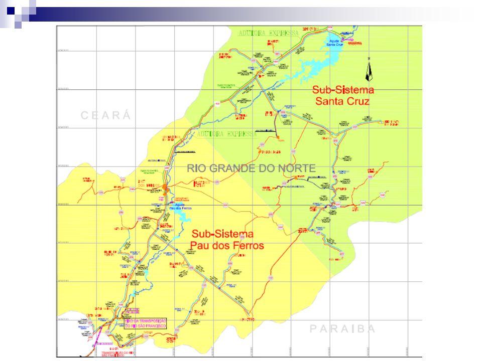 FORMULAÇÃO DO PROJETO Área de influencia: Caracterização O sistema adutor Alto Oeste será implantado na bacia hidrográfica do rio Apodi/Mossoró, na região sudoeste do estado do Rio Grande do Norte.