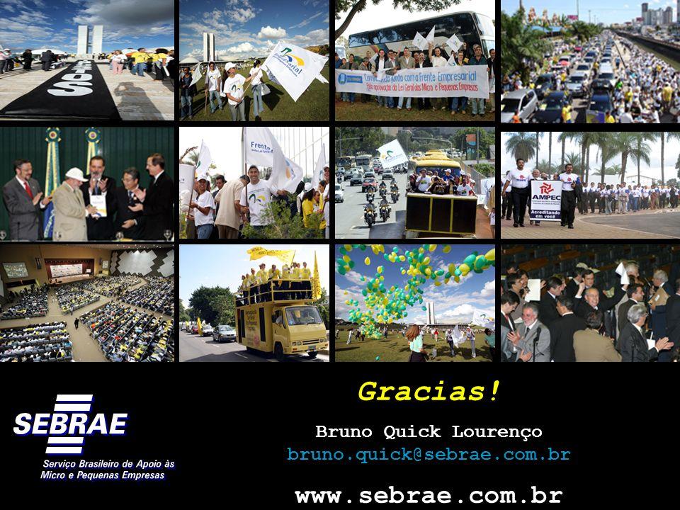 Gracias! Bruno Quick Lourenço bruno.quick@sebrae.com.br www.sebrae.com.br