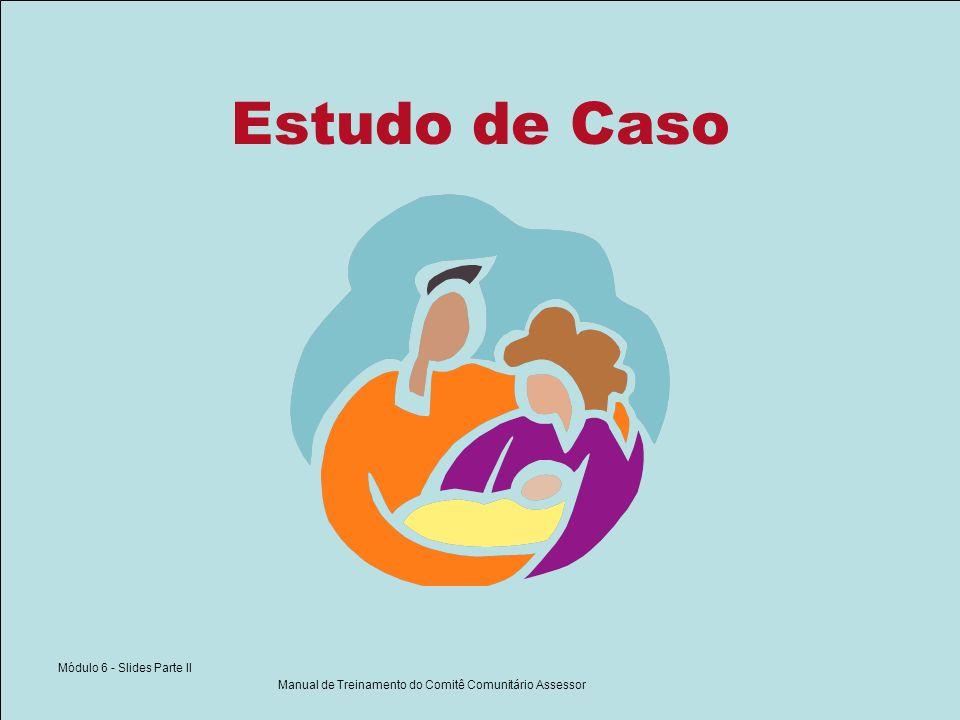 Módulo 6 - Slides Parte II Manual de Treinamento do Comitê Comunitário Assessor Estudo de Caso