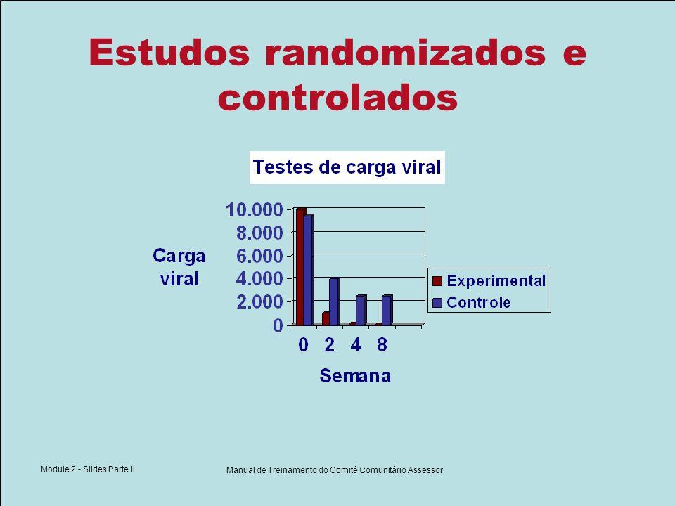 Module 2 - Slides Parte II Manual de Treinamento do Comitê Comunitário Assessor Estudos randomizados e controlados