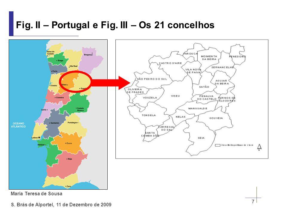 Maria Teresa de Sousa S. Brás de Alportel, 11 de Dezembro de 2009 Fig. II – Portugal e Fig. III – Os 21 concelhos 7