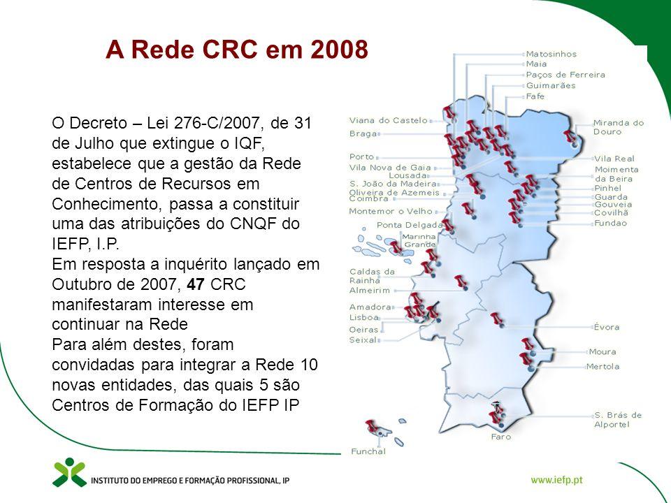 O Decreto – Lei 276-C/2007, de 31 de Julho que extingue o IQF, estabelece que a gestão da Rede de Centros de Recursos em Conhecimento, passa a constituir uma das atribuições do CNQF do IEFP, I.P.