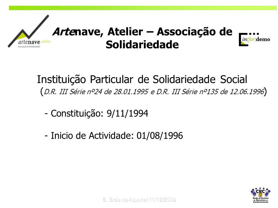 S. Brás de Alportel 11/12/2009 Instituição Particular de Solidariedade Social ( D.R. III Série nº24 de 28.01.1995 e D.R. III Série nº135 de 12.06.1996