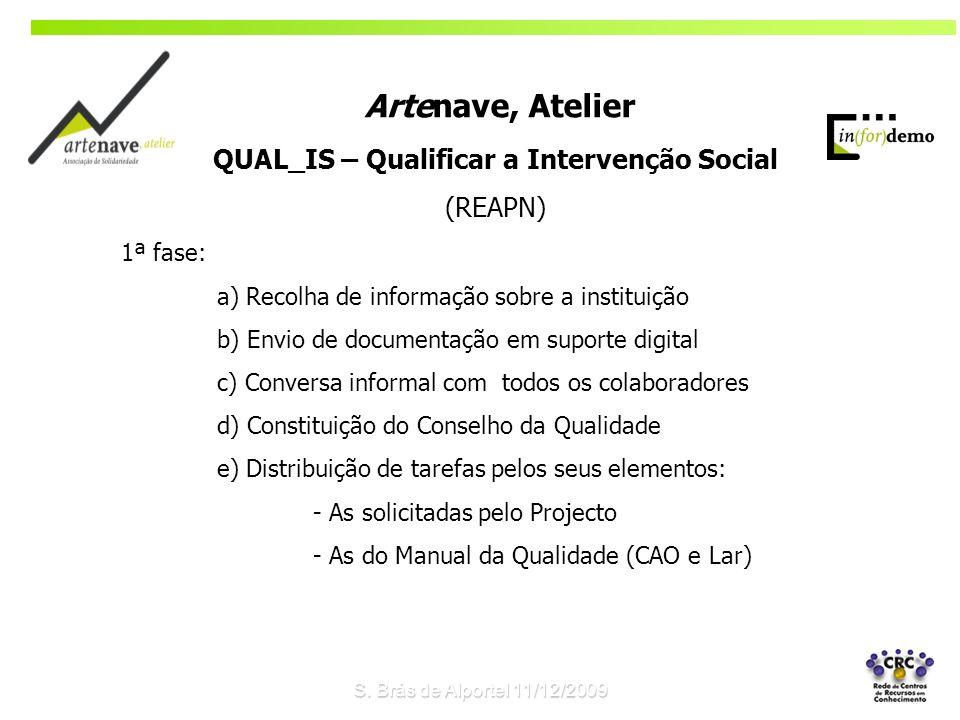 QUAL_IS – Qualificar a Intervenção Social (REAPN) 1ª fase: a) Recolha de informação sobre a instituição b) Envio de documentação em suporte digital c)