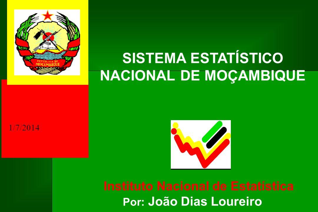 1/7/2014 Instituto Nacional de Estatística Por: João Dias Loureiro SISTEMA ESTATÍSTICO NACIONAL DE MOÇAMBIQUE