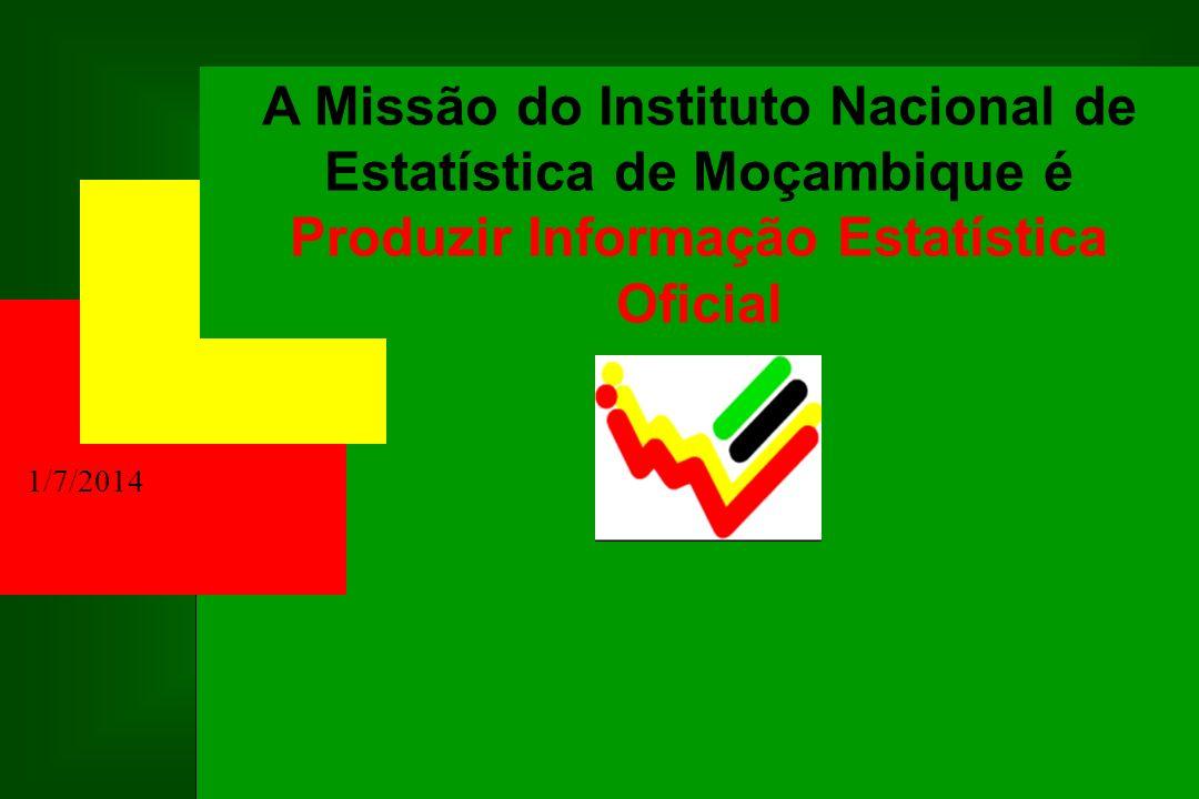 PUBLICAÇÕES DO Instituto Nacional de Estatística POPULAÇÃO ANUÁRIO ESTATÍSTICO NACIONAL MOÇAMBIQUE EM NÚMEROS ÍNDICE DE PREÇOS NO CONSUMIDOR CONTAS NACIONAIS COMÉRCIO EXTERNO INDÚSTRIA CONSTRUÇÃO A CONJUNTURA ECONÓMICA INDICES DA ACTIVIDADE ECONÓMICA TRANSPORTES E COMUNICAÇÕES SIDA, GÉNERO, INDICADORES SOCIAIS ANUÁRIOS ESTATÍSTICOS PROVINCIAIS E, OUTRAS!
