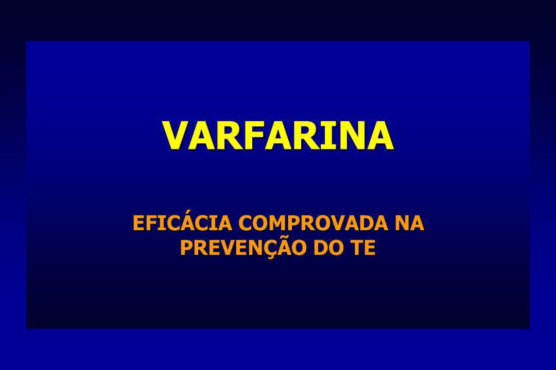 VARFARINA EFICÁCIA COMPROVADA NA PREVENÇÃO DO TE