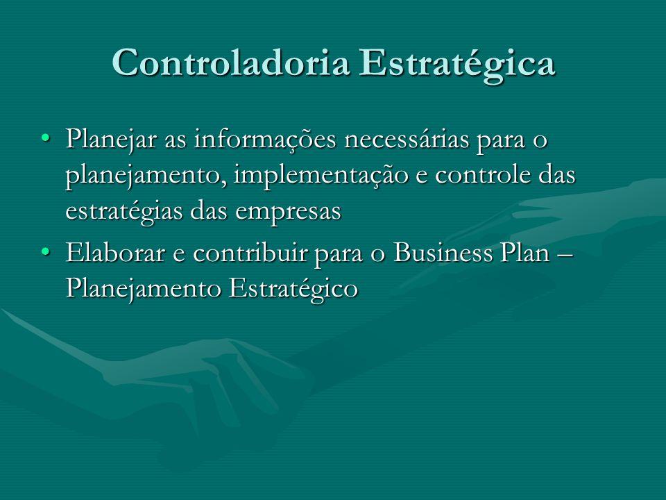 Controladoria Estratégica Planejar as informações necessárias para o planejamento, implementação e controle das estratégias das empresasPlanejar as in