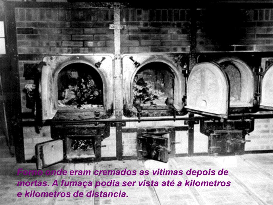 Forno onde eram cremados as vitimas depois de mortas.