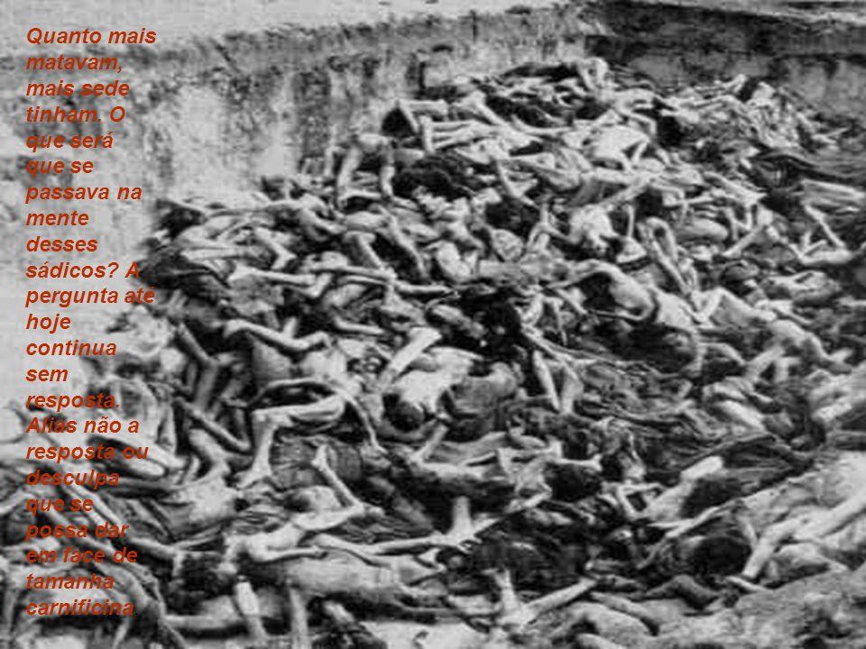Quanto mais matavam, mais sede tinham.O que será que se passava na mente desses sádicos.