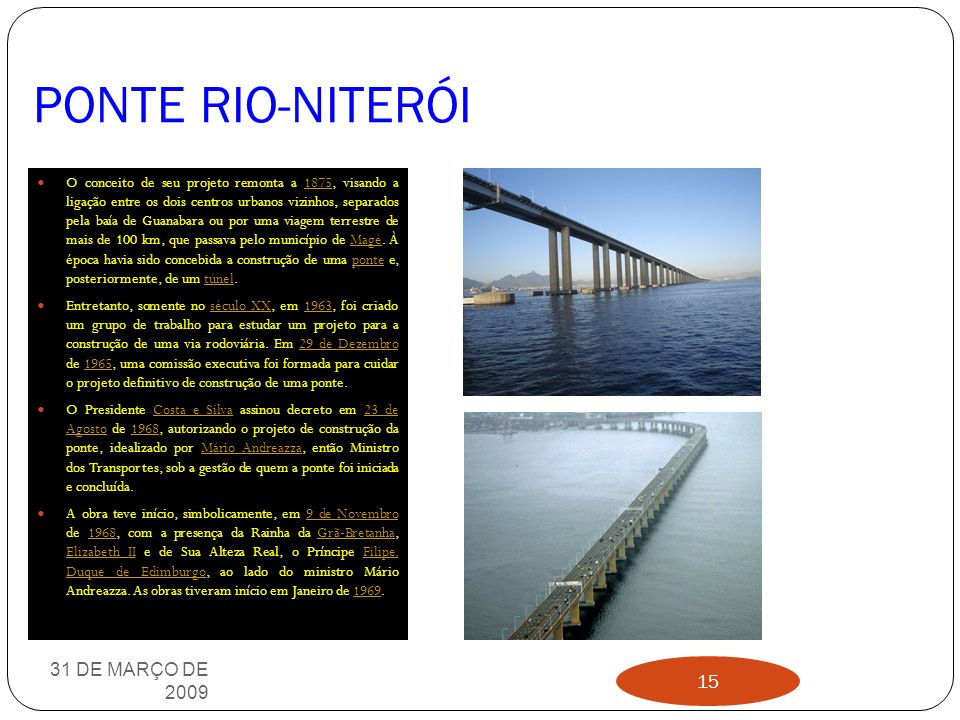 PONTE RIO-NITERÓI 31 DE MARÇO DE 2009 14
