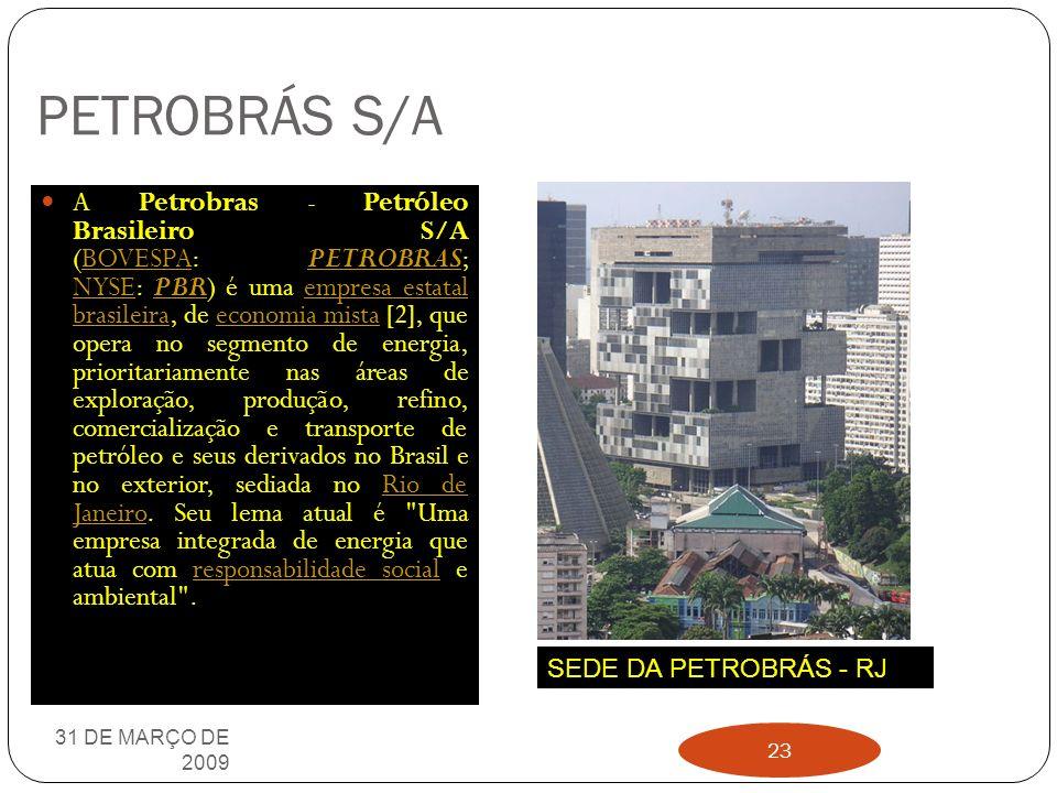 HIDRELÉTRICA DE JUPIÁ 31 DE MARÇO DE 2009 22 Situada sobre o Rio Paraná, na intersecção com o Rio Sucuriú, no ponto chamado Jupiá, entre as cidades de