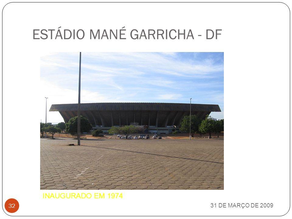 ESTÁDIO GOV. PLÁCIDO CASTELO (CASTELÃO) - CE 31 DE MARÇO DE 2009 31 INAUGURADO EM 1973
