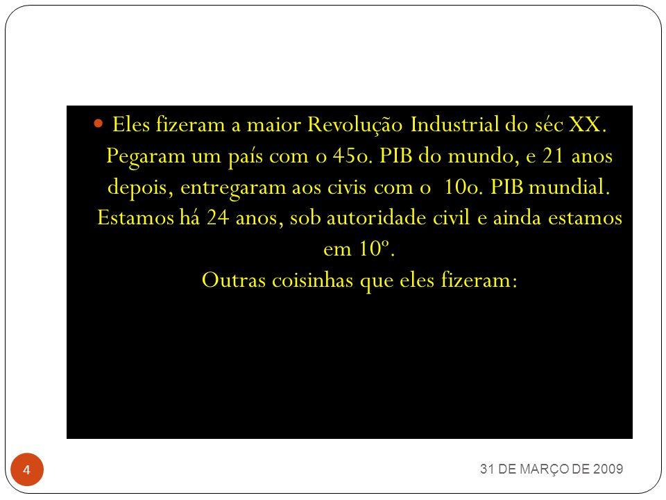 31 DE MARÇO DE 2009 3 ESTE SIMPLES TRABALHO TEM COMO OBJETIVO PRINCIPAL REMEMORAR ALGUNS FATOS OCORRIDOS NAQUELE PERÍODO HISTÓRICO DA NAÇÃO BRASILEIRA
