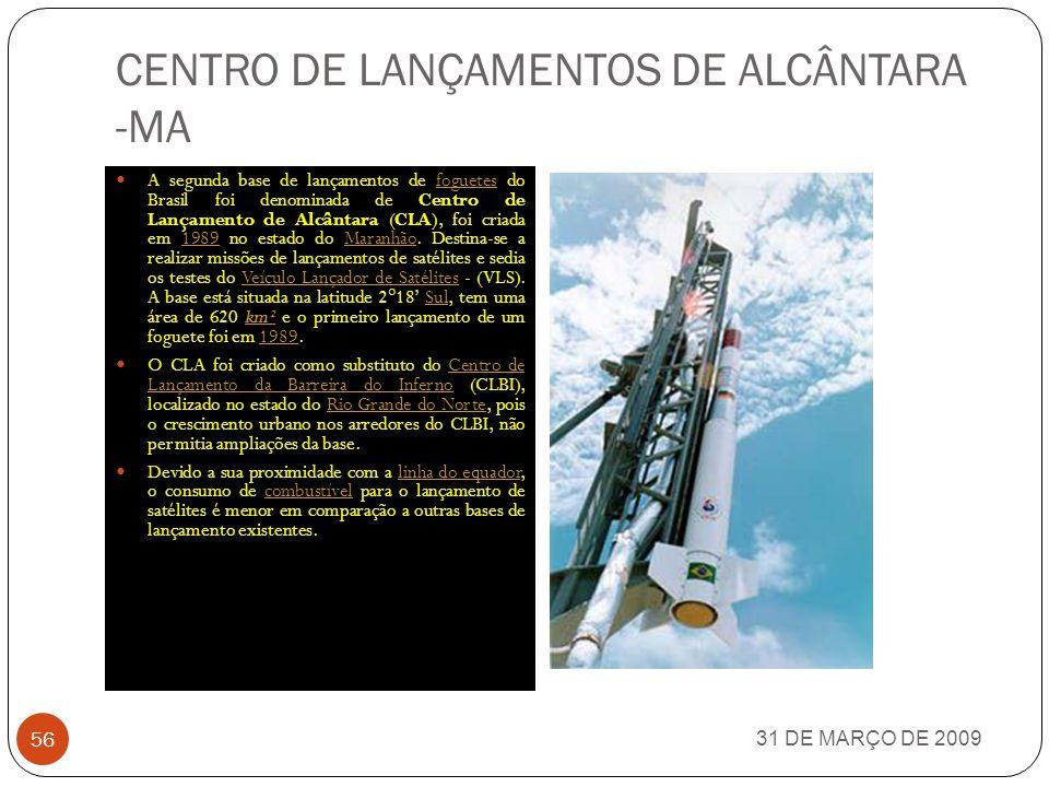 EMBRAER 31 DE MARÇO DE 2009 55 A Empresa Brasileira de Aeronáutica S.A. (Embraer) é uma empresa que fabrica aviões de pequeno e médio porte, para uso
