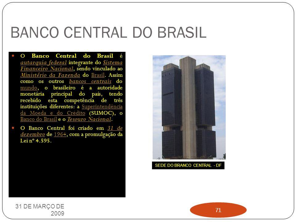 EMBRAER 31 DE MARÇO DE 2009 70 A Embraer nasceu como uma iniciativa do governo brasileiro dentro de um projeto estratégico para implementar a indústri