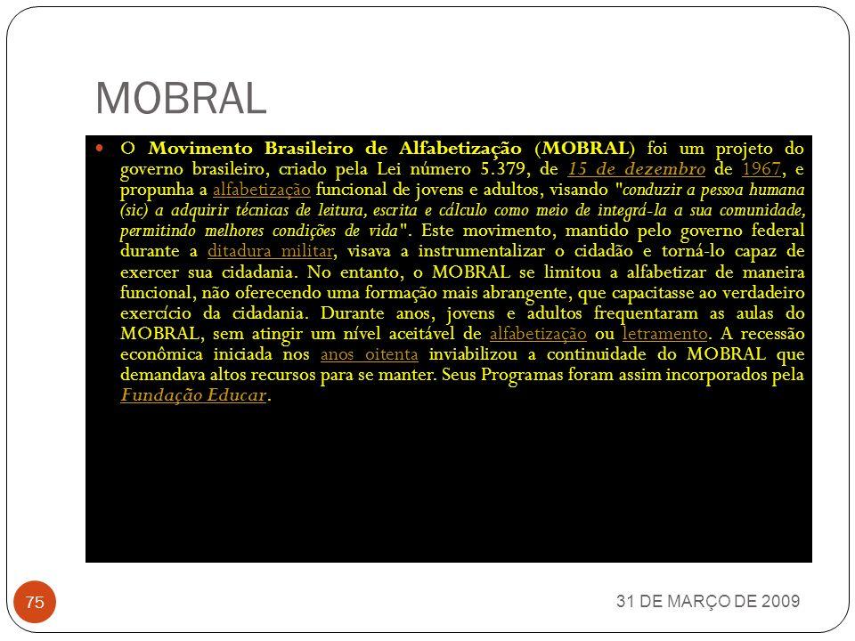 REDE FERROVIÁRIA FEDERAL 31 DE MARÇO DE 2009 74 A Rede Ferroviária Federal Sociedade Anônima (RFFSA) foi uma empresa estatal brasileira de transporte ferroviário, que cobria boa parte do território brasileiro.empresa estataltransporte ferroviáriobrasileiro dissolvida de acordo com o estabelecido no Decreto nº 3.277, de 7 de dezembro de 1999, alterado pelo Decreto nº 4.109, de 30 de janeiro de 2002, pelo Decreto nº 4.839, de 12 de setembro de 2003, e pelo Decreto nº 5.103, de 11 de junho de 2004, reunia 18 ferrovias regionais, e tinha como intuito promover e gerir o desenvolvimento no setor de transportes ferroviários.