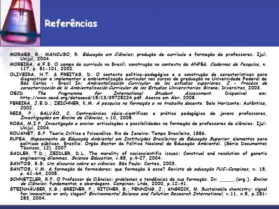 MOREIRA, A.F.B. O campo do currículo no Brasil: construção no contexto da ANPEd. Cadernos de Pesquisa, n. 117, p. 81-101, 2002. OLIVEIRA, H.T. & FREIT