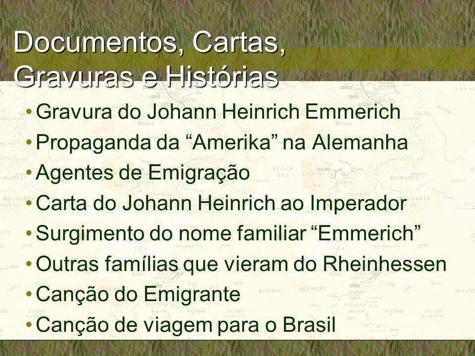 Documentos, Cartas, Gravuras e Histórias Gravura do Johann Heinrich Emmerich Propaganda da Amerika na Alemanha Agentes de Emigração Carta do Johann He