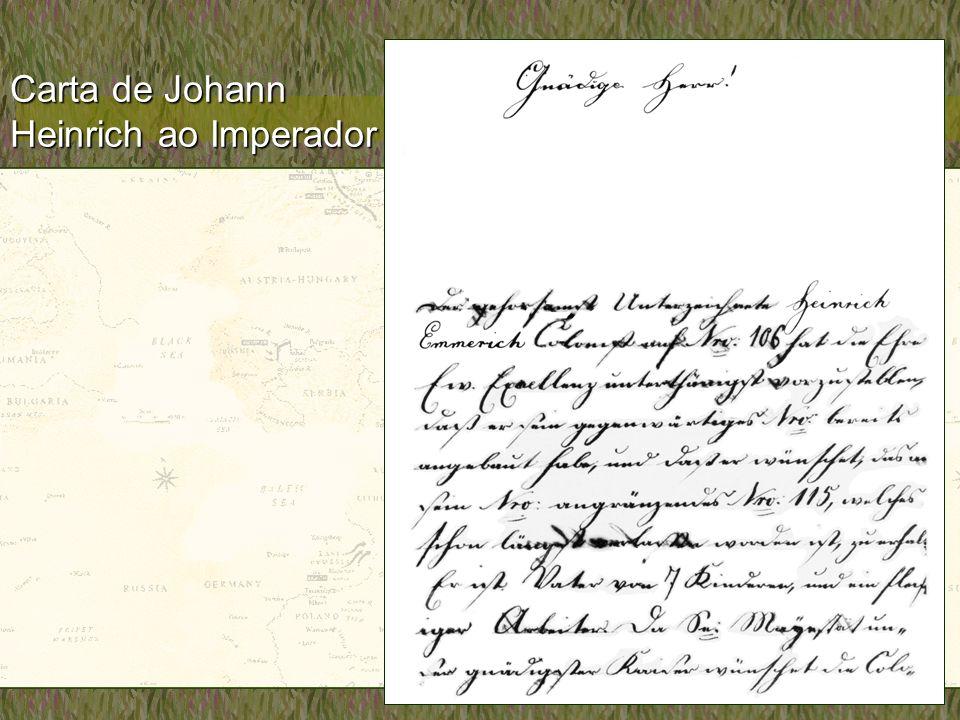 Carta de Johann Heinrich ao Imperador