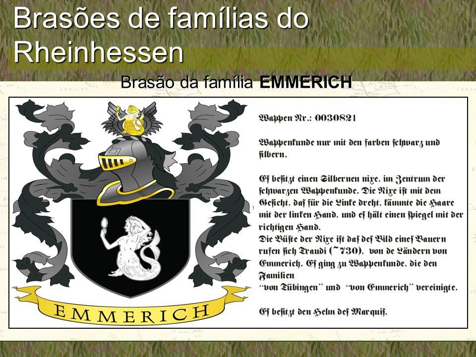 Brasões de famílias do Rheinhessen Brasão da família EMMERICH