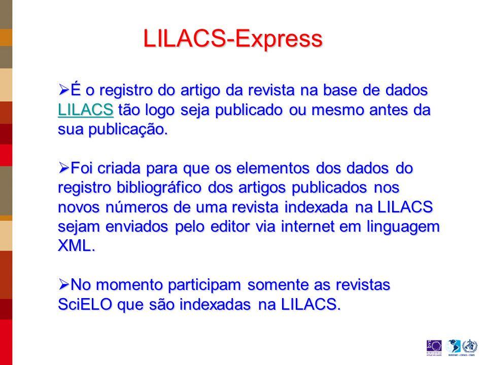 Espera-se que em curto prazo todas as revistas indexadas na LILACS estejam em formato eletrônico, propiciando uma visibilidade mais rápida.