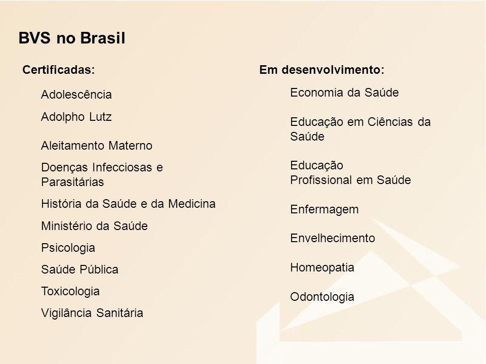DESAFIOS: Fortalecimento da rede de cooperação para ampliação das parcerias Investimento em capacitação permanente dos profissionais Ampliação do acesso aos países de Língua Portuguesa Fortalecimento das políticas orientadas para adoção de soluções de domínio público e software livre Regionalização das BVSs temáticas Integração das BVSs Temáticas – Portal da BVS Brasil