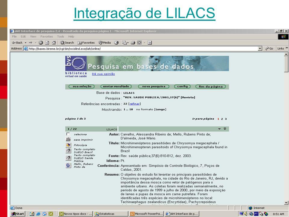 Integração de LILACS