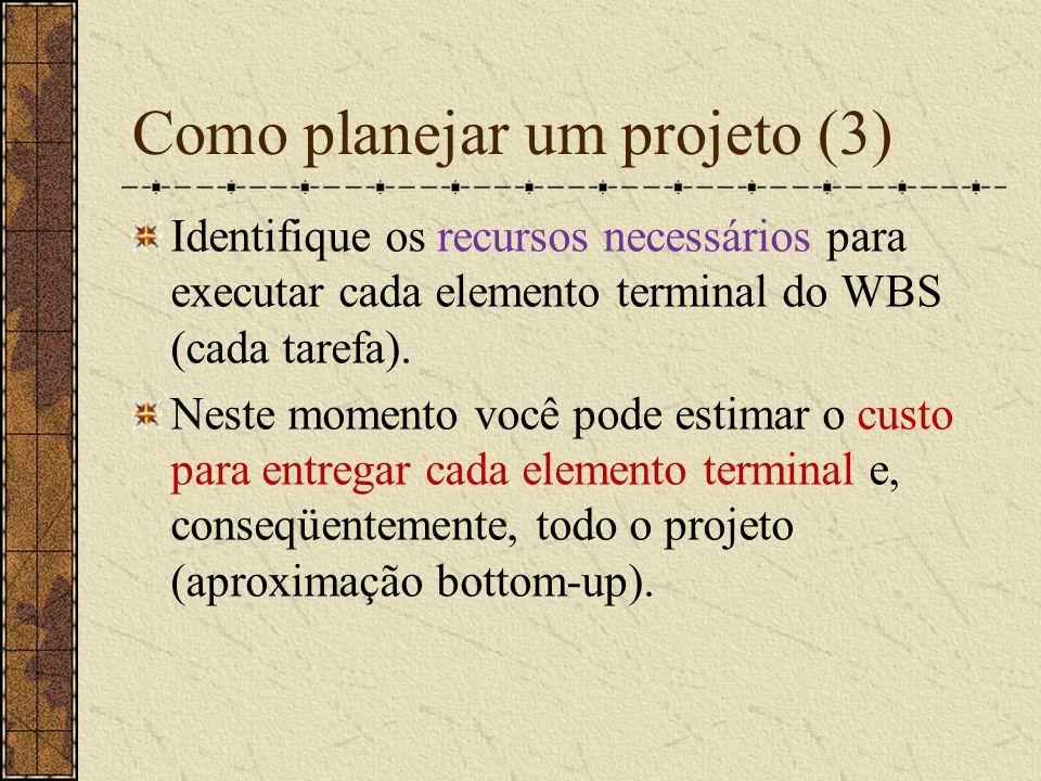 Grupos de Riscos (Conrow, 1997) Projeto Atributos de Projeto Gerência Engenharia Ambiente de Trabalho Outros