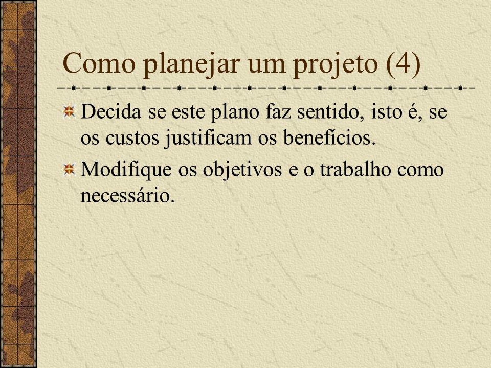 Como planejar um projeto (5) Defina dependências entre tarefas.