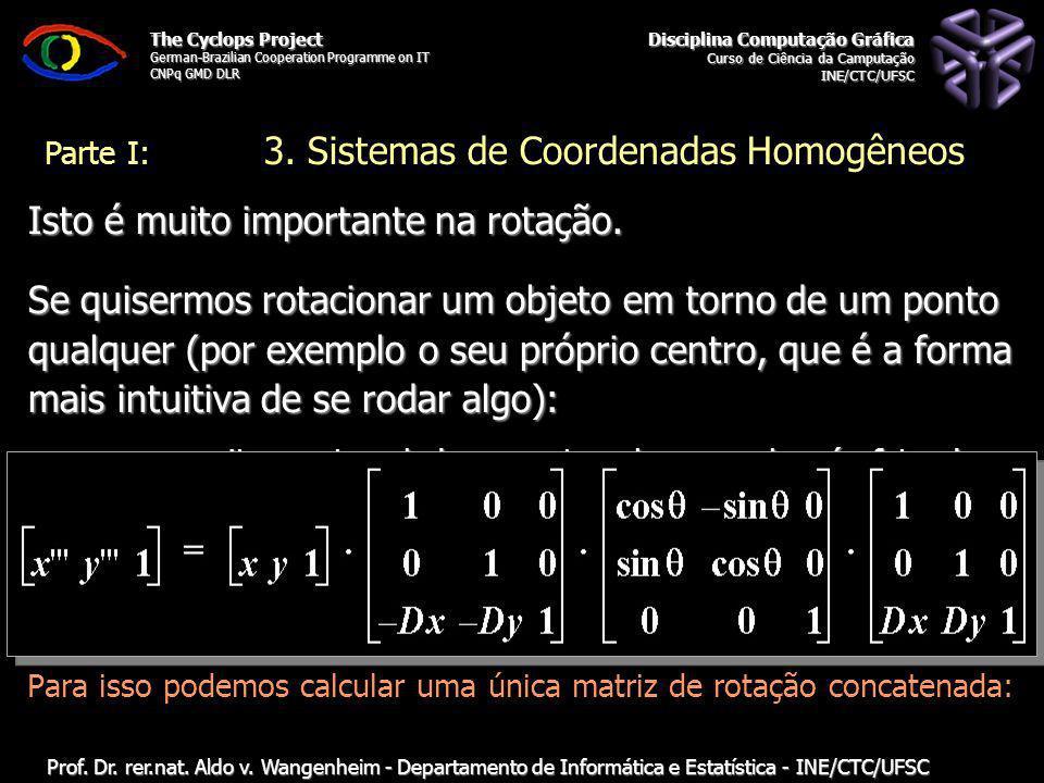 Disciplina Computação Gráfica Curso de Ciência da Camputação INE/CTC/UFSC The Cyclops Project German-Brazilian Cooperation Programme on IT CNPq GMD DLR Prof.