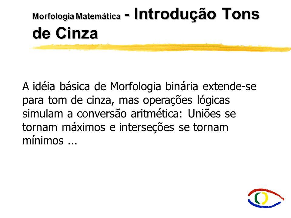 Morfologia Matemática Parte II - Tons de Cinza e Cores