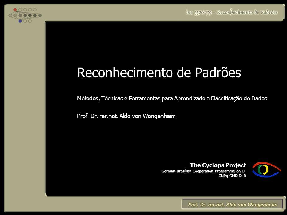The Cyclops Project German-Brazilian Cooperation Programme on IT CNPq GMD DLR Reconhecimento de Padrões Métodos, Técnicas e Ferramentas para Aprendizado e Classificação de Dados Prof.