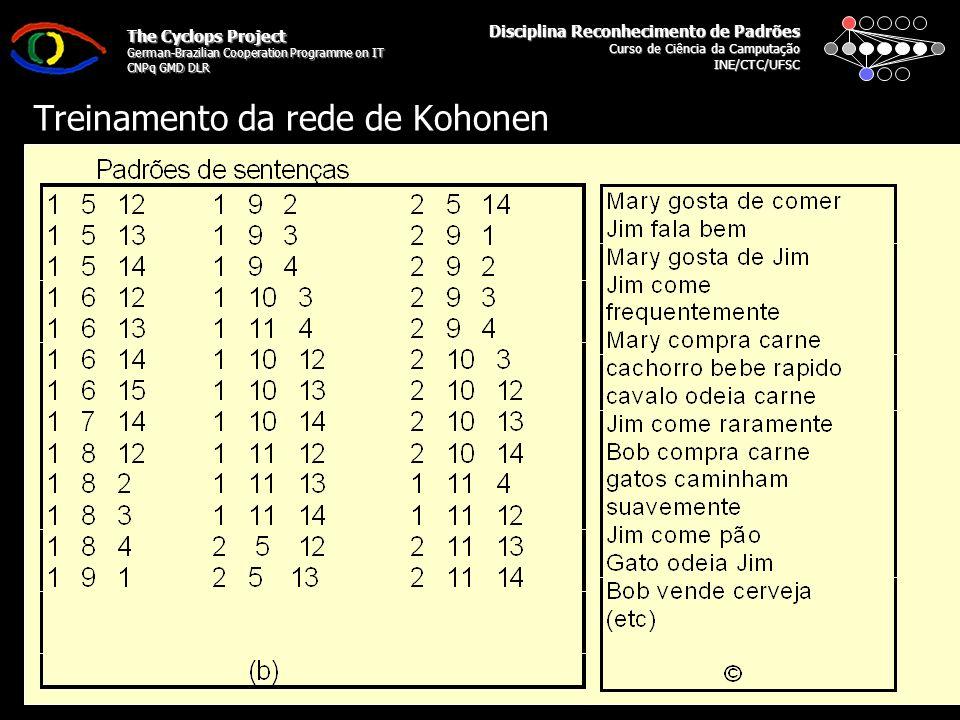 Disciplina Reconhecimento de Padrões Curso de Ciência da Camputação INE/CTC/UFSC The Cyclops Project German-Brazilian Cooperation Programme on IT CNPq GMD DLR Segunda Parte: Explorando Dados Agrupados em Redes