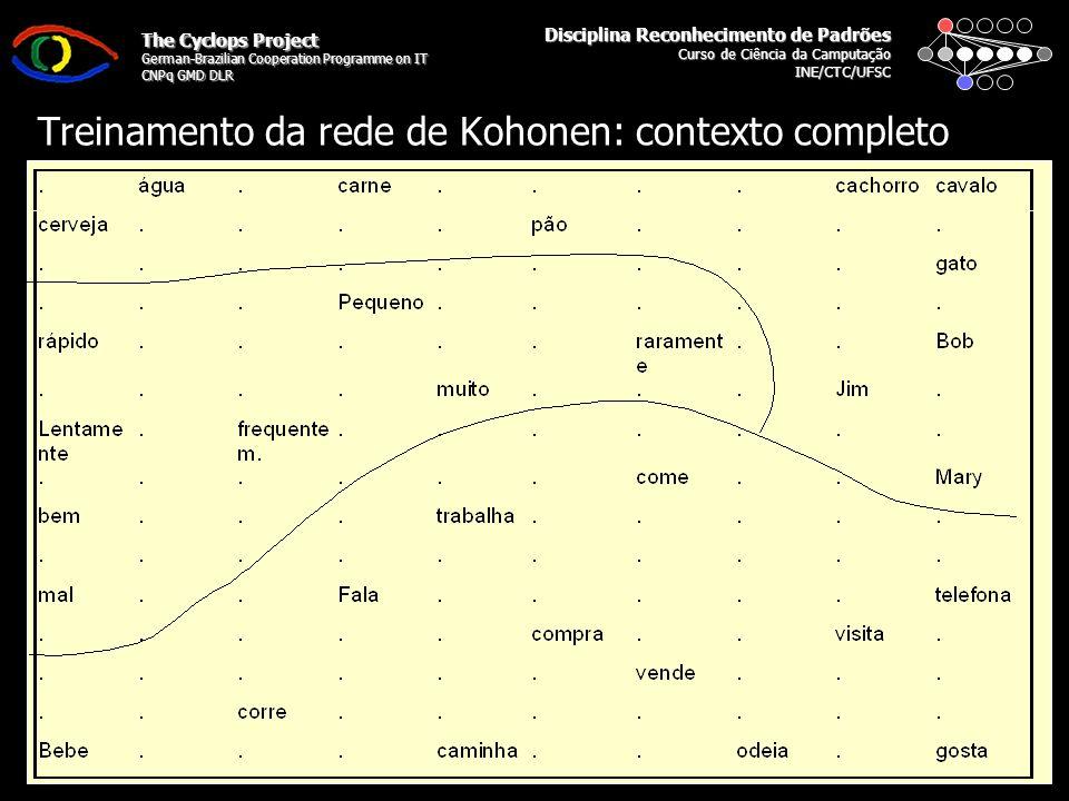 Disciplina Reconhecimento de Padrões Curso de Ciência da Camputação INE/CTC/UFSC The Cyclops Project German-Brazilian Cooperation Programme on IT CNPq GMD DLR