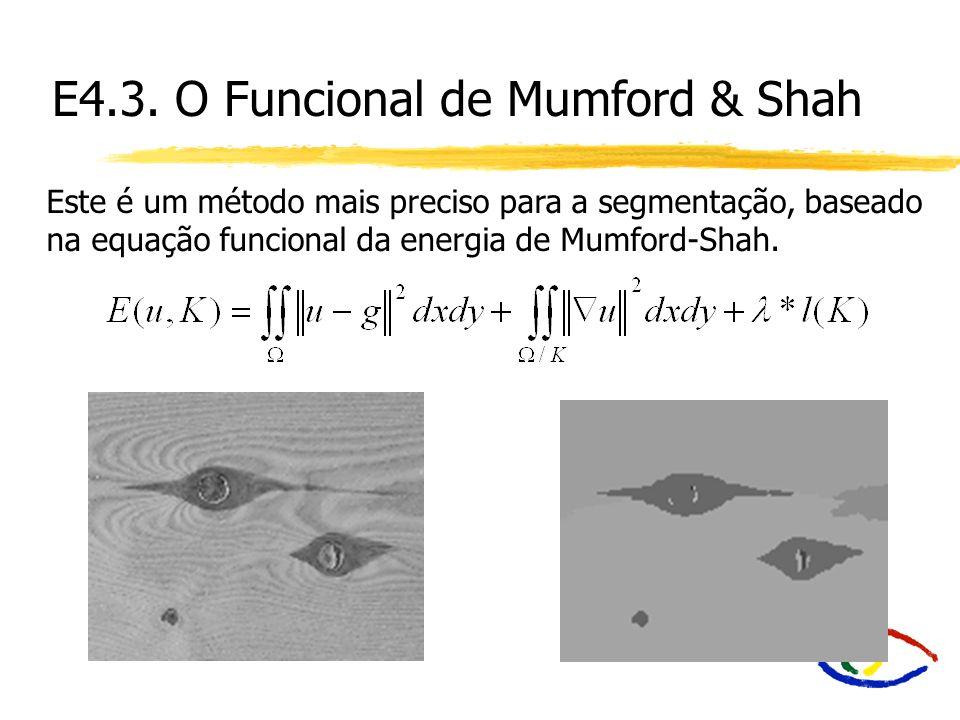 E4.3. O Funcional de Mumford & Shah Este é um método mais preciso para a segmentação, baseado na equação funcional da energia de Mumford-Shah.