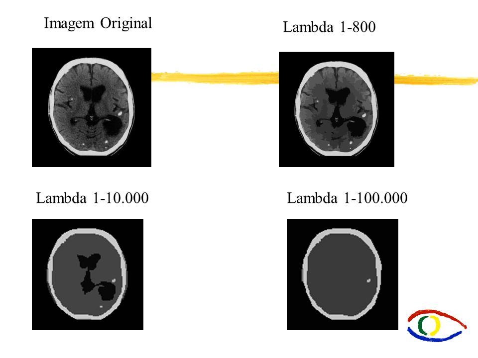 Imagem Original Lambda 1-800 Lambda 1-10.000Lambda 1-100.000