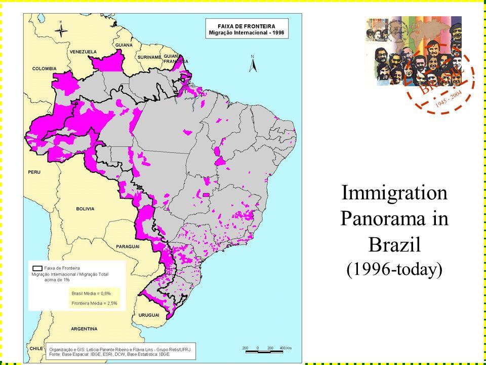 BRASIL 1945 - 2004 Immigration Panorama in Brazil (1996-today)