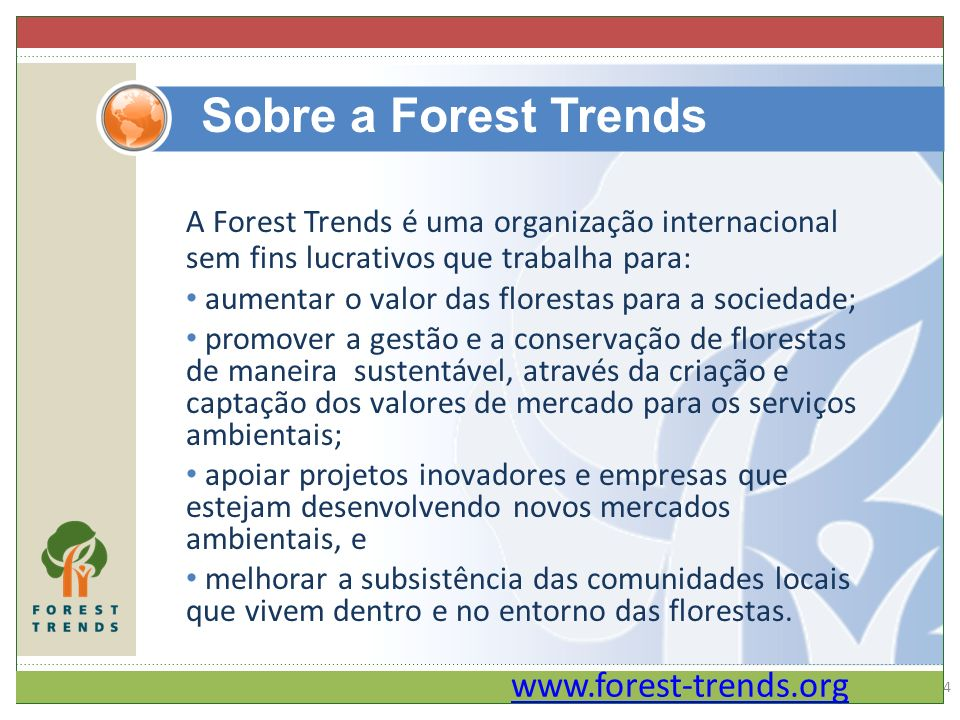 REDLAC – EkoMArketsredlac slide 5 through 11 insert and add notes Forest Trends - Programas