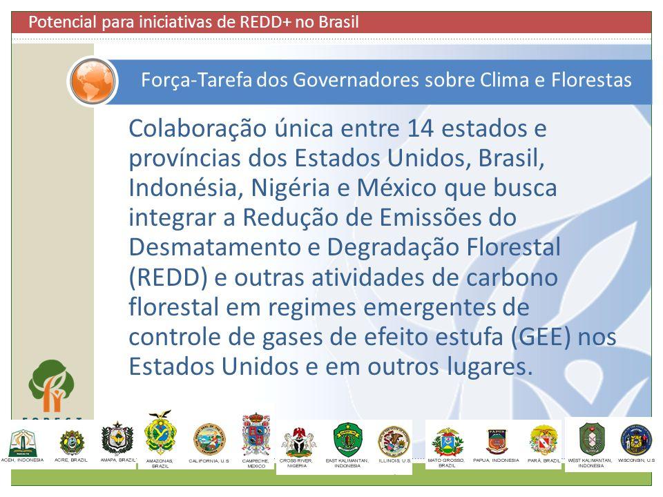 Colaboração única entre 14 estados e províncias dos Estados Unidos, Brasil, Indonésia, Nigéria e México que busca integrar a Redução de Emissões do De