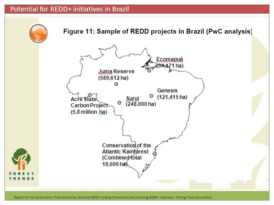 Potential for REDD+ initiatives in Brazil