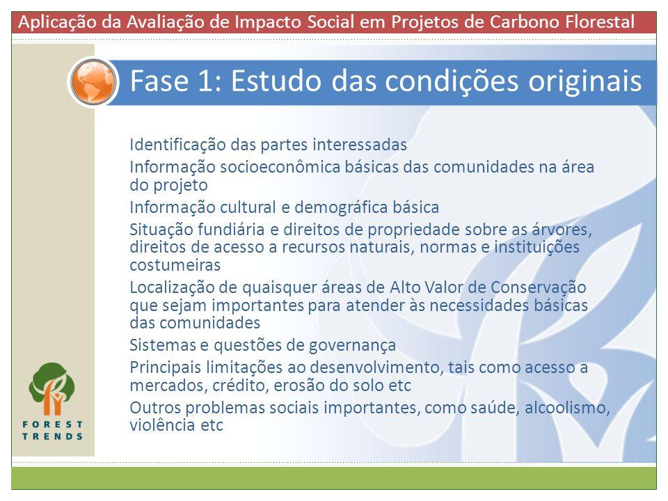 Identificação das partes interessadas Informação socioeconômica básicas das comunidades na área do projeto Informação cultural e demográfica básica Si